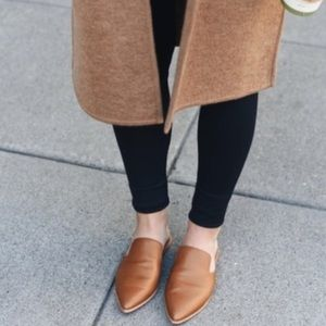 Madewell Gemma Pointy Leather Mule Flats
